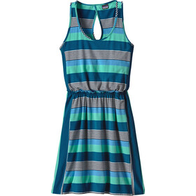 Patagonia Iliana Halter Dress Dam fitz stripe micro: navy blue